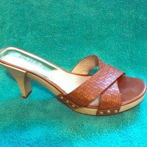 Michael Kors slip on sandal heels 8.5